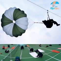 Session release and folding parachute (school)