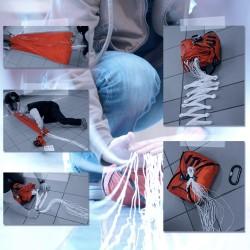 Séance de pliage parachute (école)