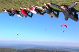Groupe de pilotes parapente en stage de perf