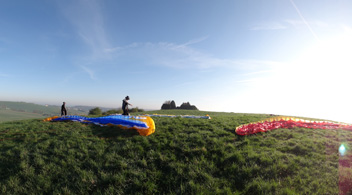 Paragliding-paramotoring starting place Saint Jean Rohrbach