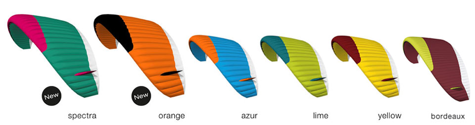 Couleurs standard des parapente advance Alpha 6